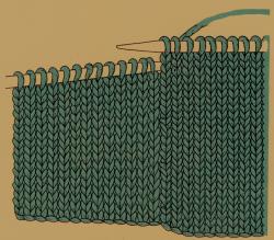 Handschuhe auf zwei Nadeln und Fäustlinge