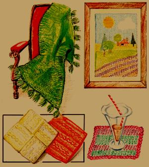 Haushaltstextilien stricken und entwerfen