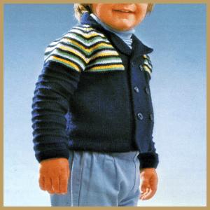 Strickjacke für Kinder, Kinderstrickjacke mit Streifen