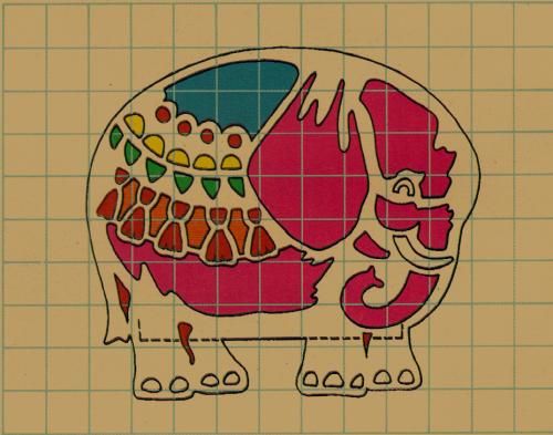 Rasterzeichnungen für die Tierlaternen