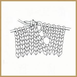 handarbeitszirkel lochmuster stricken mit versetzten maschen. Black Bedroom Furniture Sets. Home Design Ideas