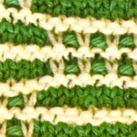 Muster mit abgehobenen Machen