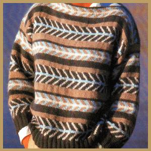 Musterstricken, Pullover mit Mustern in Grösse 40