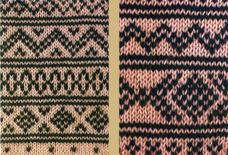 Norwegermuster werden glatt rechts gestrickt