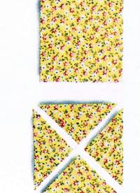 Dreiecke aus geviertelten Quadraten
