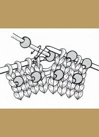 eingestrickte Perlen oder Perlenborte