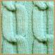 Strickmuster geschlungener Zopf