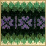 Shetlandmuster mit mehreren Farben, Anleitung