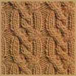 Streifen aus gezopften Maschen