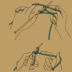 Stricken für Linkshänder