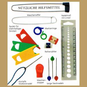 Material und Arbeitsmittel zum Stricken