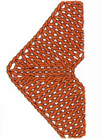 Ränder mit eingestrickten Ecken