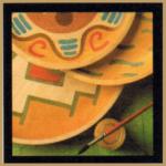 Holzteller mit schönen dekorativen Mustern, Geschenke für jeden Anlass