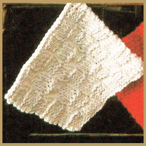 Topflappen aus Baumwolle stricken