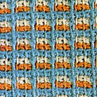 Dreifarbiges tunesisches Muster