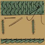 Untertritt und Verstärkung bei Strickarbeiten