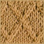 Verkreuzte Maschen, eine besondere Kombination von zwei Techniken