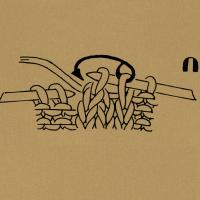 3 Maschen überzogen zusammenstricken, d. h. 1 Masche wie zum Rechtsstricken abheben, die folgenden 2 Maschen rechts zusammenstricken, die abgehobene Masche darüberziehen.