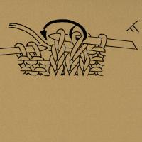 3 Maschen zusammenstricken, d. h. 2 Maschen zusammen wie zum Rechtsstricken abheben, 1 Masche rechts, dann die abgehobenen Maschen überziehen.