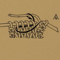 4 Maschen bzw. so viele Maschen rechts zusammenstricken, wie die Zahl angibt