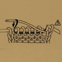 5 Maschen bzw. so viele Maschen links zusammenstricken, wie die Zahl angibt