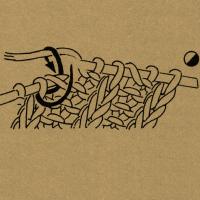 Strickschriften 1 Umschlag mit der rechten Masche rechts zusammenstricken