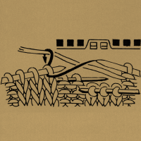 Verkreuzte Maschen, d. h. entsprechend viele Maschen vor der schrägen Linie auf die 1. Hilfsnadel nach vorn nehmen, die Maschen zwischen den schrägen Linien auf eine 2. Hilfsnadel nach hinten nehmen. Die Maschen nach der 2. schrägen Linie, dann die Maschen von der 2. Hilfsnadel und zuletzt die Maschen von der 1. Hilfsnadel den Zeichen entsprechend stricken.