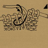 Strickschriften 2 Maschen rechts zusammenstricken