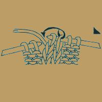 Strickschriften 2 Maschen überzogen zusammenstricken, d. h. 1 Masche wie zum Rechtsstricken abheben, 1 Masche rechts, die abgehobene Masche über die gestrickte ziehen.