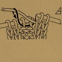 Strickschriften 2 Maschen links zusammenstricken