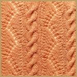 Zopf und Lochmuster und Streifen aus gezopften Maschen