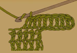 Zunehmen von festen Maschen beim Häkeln