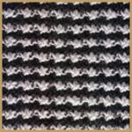 Zweifarbiger Knotenstich Strickanleitung